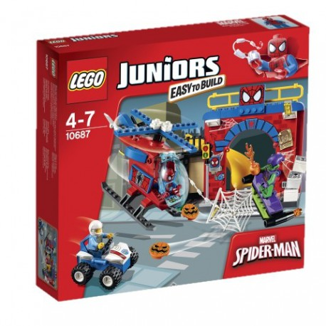 LEGO JUNIORS - KRYJÓWKA SPIDER-MANA - 10687