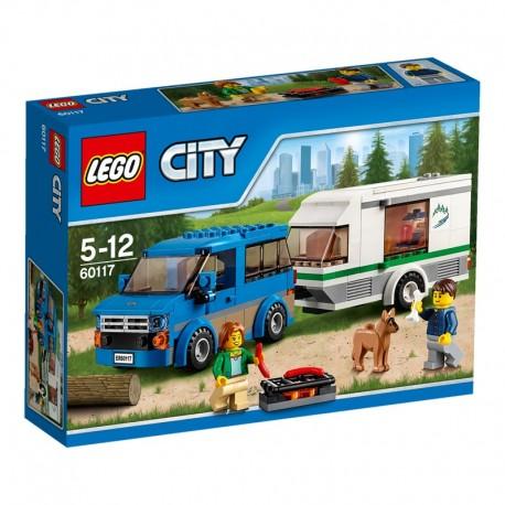 LEGO - CITY GREAT VEHICLES - VAN Z PRZYCZEPĄ KAMPINGOWĄ - 60117