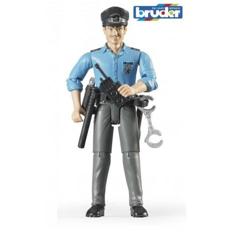 BRUDER - FIGURKA BIAŁEGO POLICJANTA - 60050