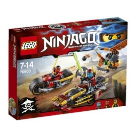 LEGO - NINJAGO - POŚCIG NA MOTOCYKLU - 70600