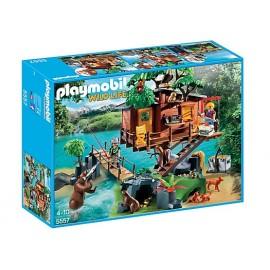 PLAYMOBIL - WILD LIFE - PRZYGODA Z DOMKIEM NA DRZEWIE - 5557