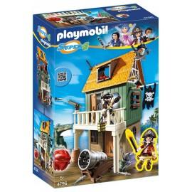 PLAYMOBIL - SUPER 4 - ZAMASKOWANY FORT PIRACKI - 4796