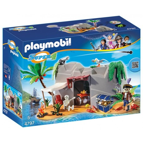 PLAYMOBIL - SUPER 4 - PIRACKA JASKINIA - 4797
