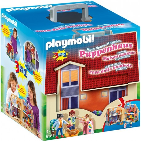 PLAYMOBIL - DOLLHOUSE - NOWY PRZENOŚNY DOMEK DLA LALEK - 5167
