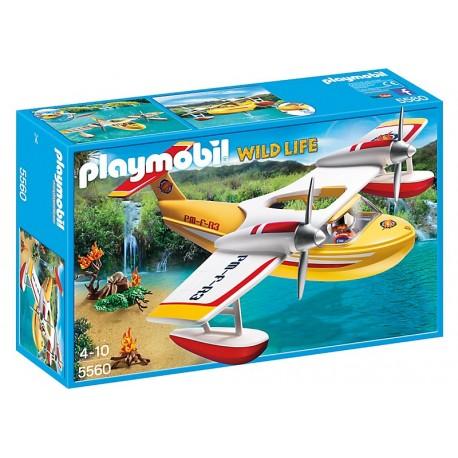 PLAYMOBIL - WILD LIFE - SAMOLOT GASZĄCY POŻAR - 5560