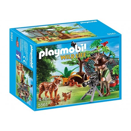 PLAYMOBIL - WILD LIFE - RODZINA RYSIÓW Z KAMERZYSTĄ - 5561