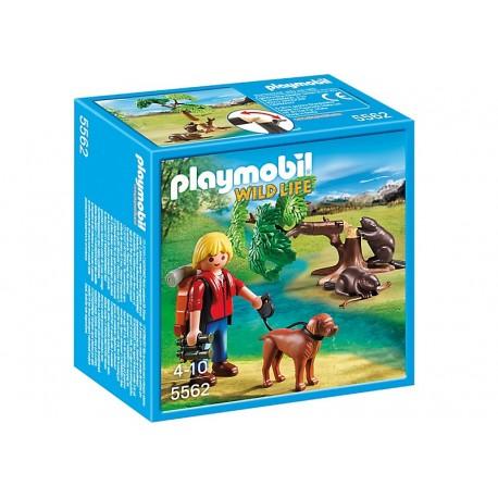 PLAYMOBIL - WILD LIFE - DRZEWO Z BOBRAMI I PRZYRODNIKIEM - 5562
