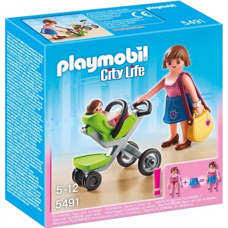 PLAYMOBIL - CITY LIFE - MAMA Z WÓZKIEM - 5491