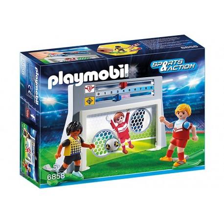 PLAYMOBIL - PLAYMO-FRIENDS - STRZELANIE BRAMKI - 6858