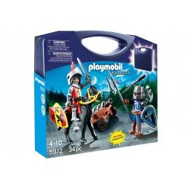 PLAYMOBIL - KNIGHTS - SKRZYNKA WALIZKA - RYCERZE - 5972