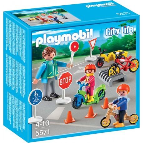 PLAYMOBIL - CITY LIFE - BEZPIECZNIE W RUCHU MIEJSKIM - 5571