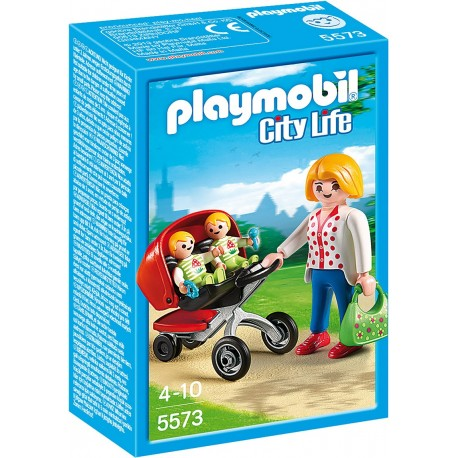 PLAYMOBIL - CITY LIFE - WÓZEK DLA BLIŹNIAKÓW - 5573