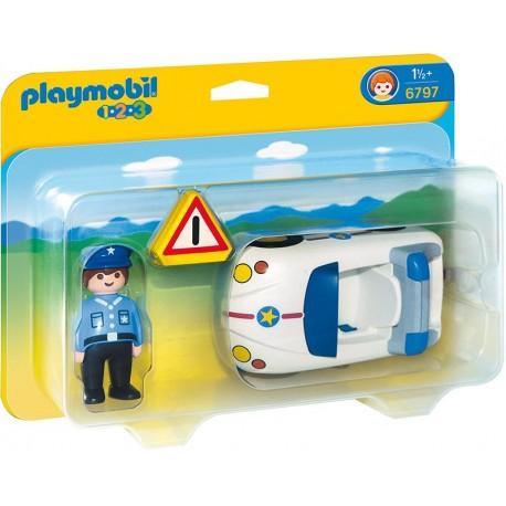 PLAYMOBIL - 123 - AUTO POLICYJNE - 6797