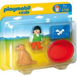 PLAYMOBIL - 123 - DZIEWCZYNKA Z PSEM - 6796