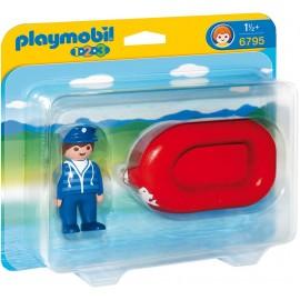 PLAYMOBIL - 123 - MĘŻCZYZNA Z PONTONEM - 6795