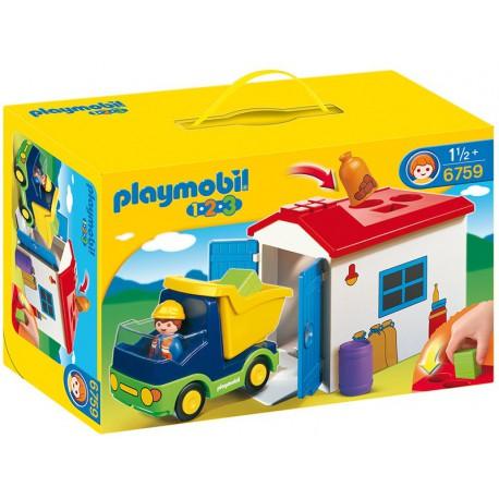 PLAYMOBIL - 123 - CIĘŻARÓWKA Z GARAŻEM - 6759