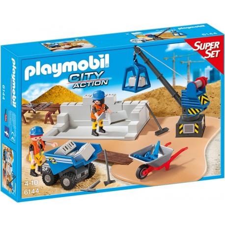 PLAYMOBIL - CITY ACTION - WALIZKA SUPER SET PLAC BUDOWY - 6144