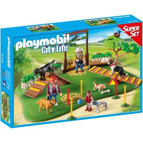 PLAYMOBIL - CITY LIFE - WALIZKA SUPER SET - SZKOŁA DLA PSÓW - 6145