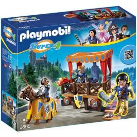 PLAYMOBIL - SUPER 4 - KRÓLEWSKI TRYBUN - 6695