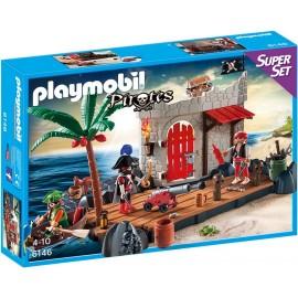 PLAYMOBIL - PIRATES - WALIZKA SUPER SET - TWIERDZA PIRATÓW - 6146