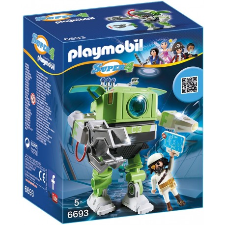PLAYMOBIL - SUPER 4 - ROBOT CLEANO - 6693