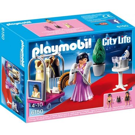 PLAYMOBIL - CITY LIFE - SESJA Z GWIAZDĄ - 6150