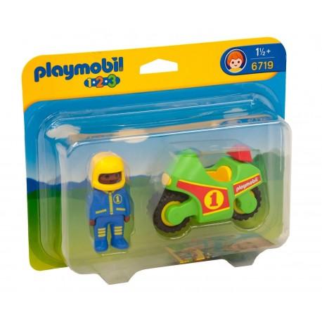 PLAYMOBIL - 123 - MOTOCYKL WYŚCIGOWY - 6719