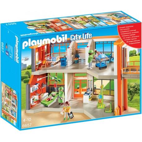 PLAYMOBIL - CITY LIFE - SZPITAL DZIECIĘCY Z WYPOSAŻENIEM - 6657