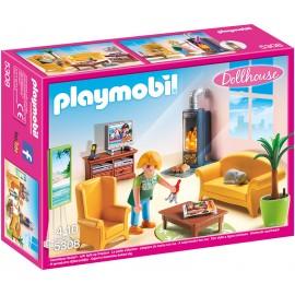 PLAYMOBIL - DOLLYHOUSE - SALON Z KOMINKIEM - 5308