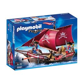 PLAYMOBIL - PIRATES - ŻAGLOWIEC WOJSKOWY Z ARMATĄ - 6681