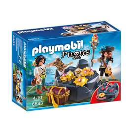 PLAYMOBIL - PIRATES - PIRACKA KRYJÓWKA SKARBÓW - 6683