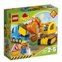 LEGO - DUPLO - CIĘŻARÓWKA I KOPARKA GĄSIENICOWA - 10812