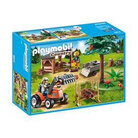 PLAYMOBIL - COUNTRY - DRWAL Z TRAKTOREM - 6814