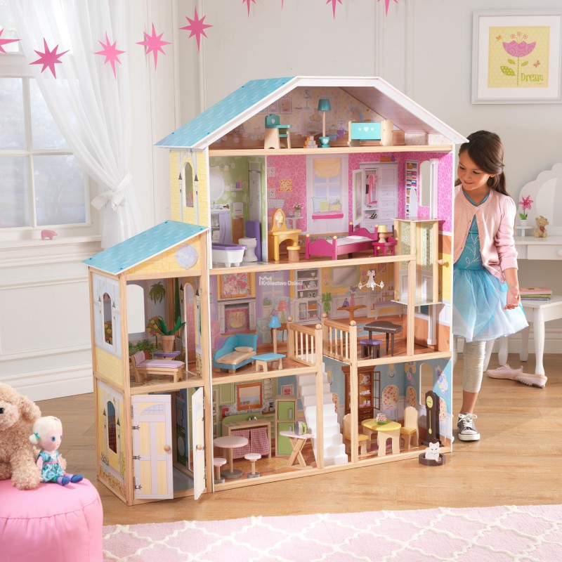 Kidkraft bardzo du y domek dla lalek barbie majestic for Poppenhuis voor barbie