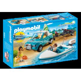 PLAYMOBIL - SUMMER FUN - SAMOCHÓD Z MOTORÓWKĄ - 6864