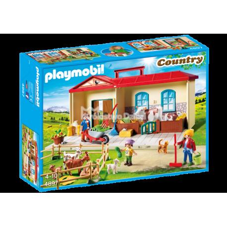 PLAYMOBIL - COUNTRY - PRZENOŚNE GOSPODARSTWO ROLNE - 4897