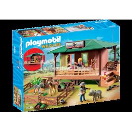 PLAYMOBIL - WILD LIFE - DOMEK RANGERA Z HODOWLĄ ZWIERZĄT - 6936