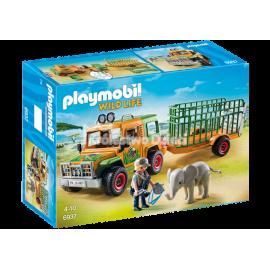 PLAYMOBIL - WILD LIFE - TERENÓWKA LECZNICZA Z PRZYCZEPĄ - 6937