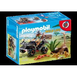 PLAYMOBIL - WILD LIFE - KŁUSOWNIK Z QUADEM - 6939