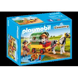 PLAYMOBIL - COUNTRY - WYCIECZKA BRYCZKĄ Z KUCYKIEM - 6948