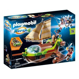 PLAYMOBIL - SUPER 4 - PIRAT CHAMELEON Z RUBY - 9000
