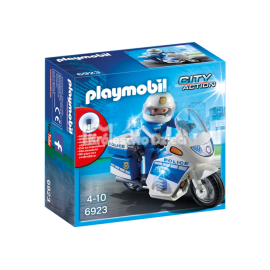 PLAYMOBIL - CITY ACTION - MOTOR POLICYJNY ZE ŚWIATŁEM LED - 6923