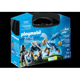 PLAYMOBIL - KNIGHTS - SKRZYNKA - RYCERZ I SMOK - 5657