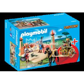 PLAYMOBIL - HISTORY - ZESTAW STARTOWY - WALKA GLADIATORÓW - 6868