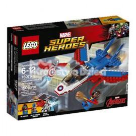 LEGO - SUPER HEROES - ODRZUTOWIEC KAPITANA AMERYKI - 76076