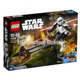 LEGO® - STAR WARS™ - ZWIADOWCA SZTURMOWCÓW I JEGO ŚMIGACZ - 75532