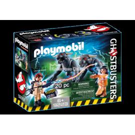 PLAYMOBIL - GHOSTBUSTERS - POGROMCY DUCHÓW - SLIMER PRZY BUDCE Z HOT-DOGAMI - 9222