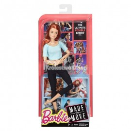 BARBIE - MADE TO MOVE - LALKA FIOLETOWY TOP - DHL84