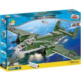 COBI - MAŁA ARMIA - AMERYKAŃSKI ŚREDNI BOMBOWIEC - NORT AMERICAN B-25 MITCHELL - 5541
