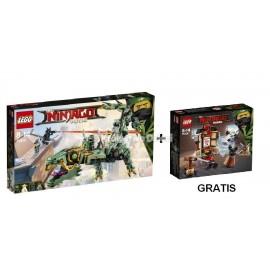LEGO® NINJAGO® MOVIE™ - MECHANICZNY SMOK ZIELONEGO NINJA 70612 + SZKOLENIE SPINJITZU 70606 GRATIS